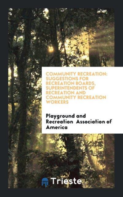 Community Recreation als Taschenbuch von Playgr...