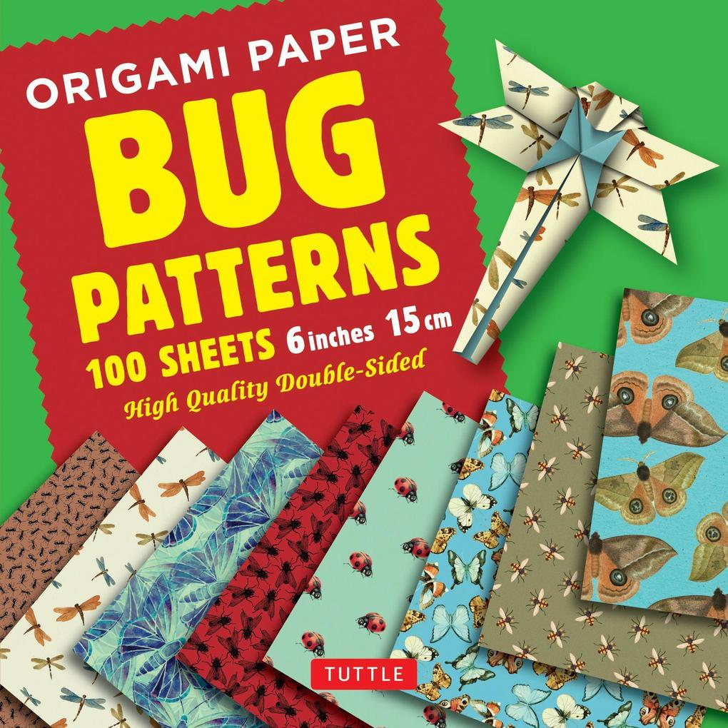 Origami Paper Bug Patterns 6 Inch 15 Cm 100 Sheets Sonstige