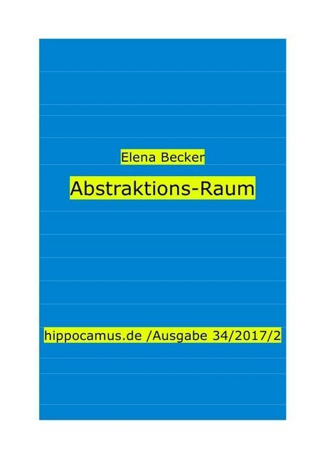 Abstraktions-Raum als Buch (kartoniert)