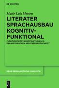 Literater Sprachausbau kognitiv-funktional