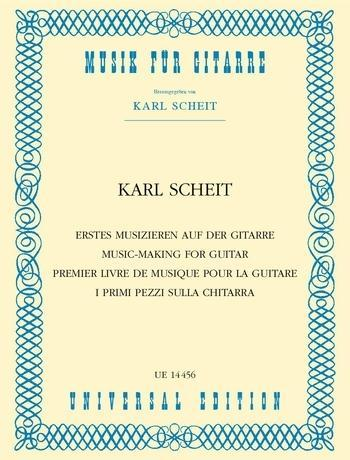 Erstes Musizieren auf der Gitarre als Buch von