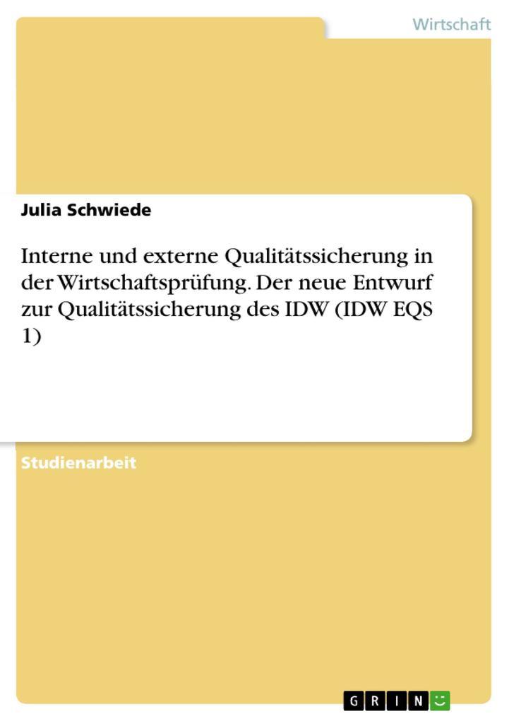 Interne und externe Qualitätssicherung in der W...