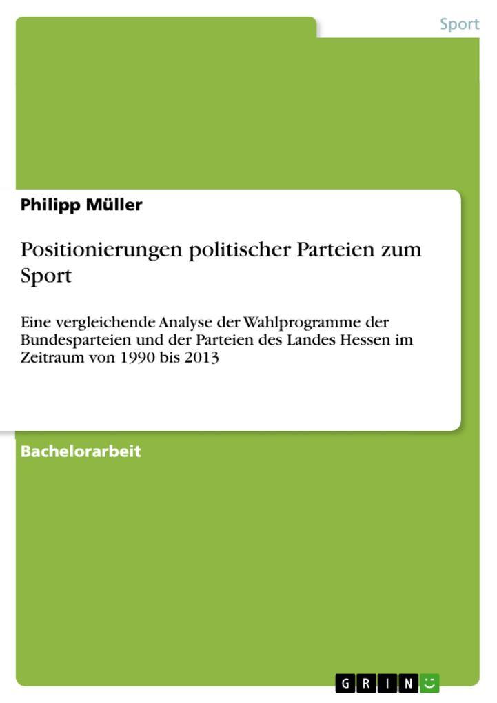 Positionierungen politischer Parteien zum Sport...