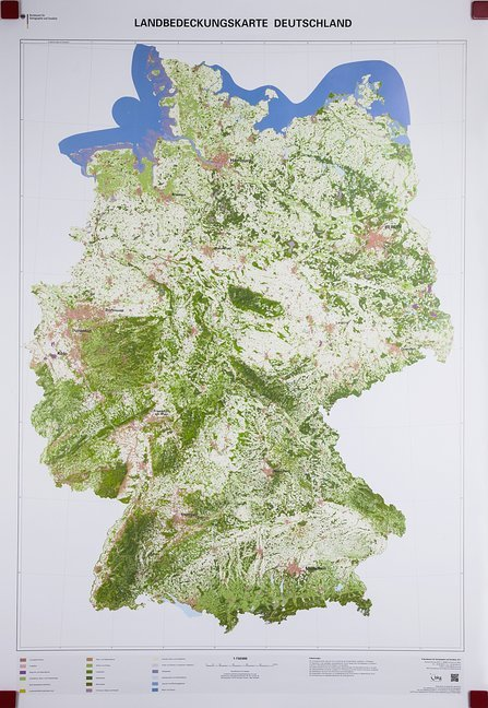 Landbedeckungskarte Deutschland 1 : 750 000. Wa...