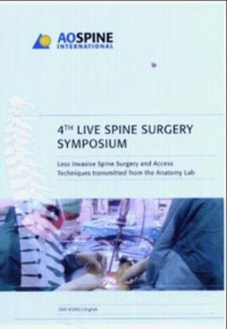 Live Spine Surgery 2004 - DVD