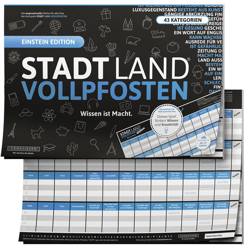 STADT LAND VOLLPFOSTEN® - BLUE EDITION - Wissen...
