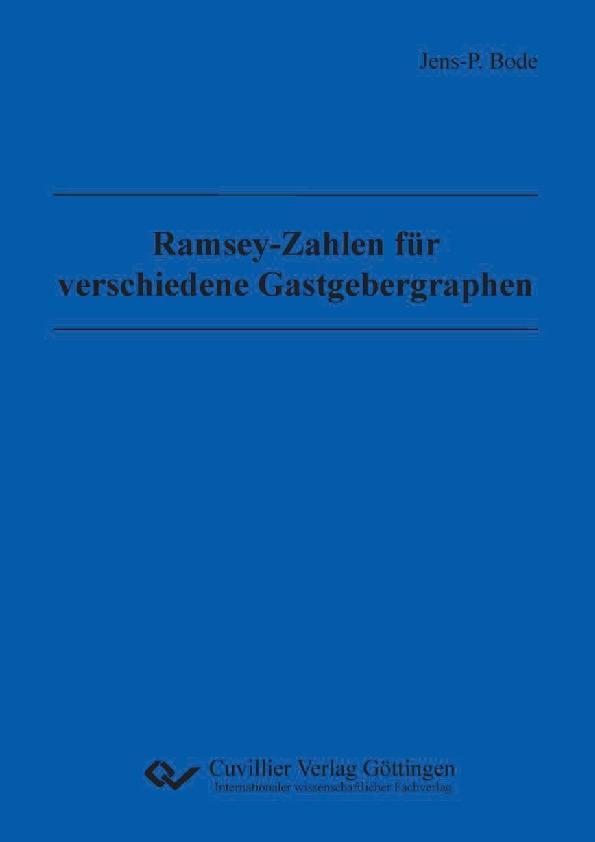 Ramsey-Zahlen für verschiedene Gastgebergraphen...