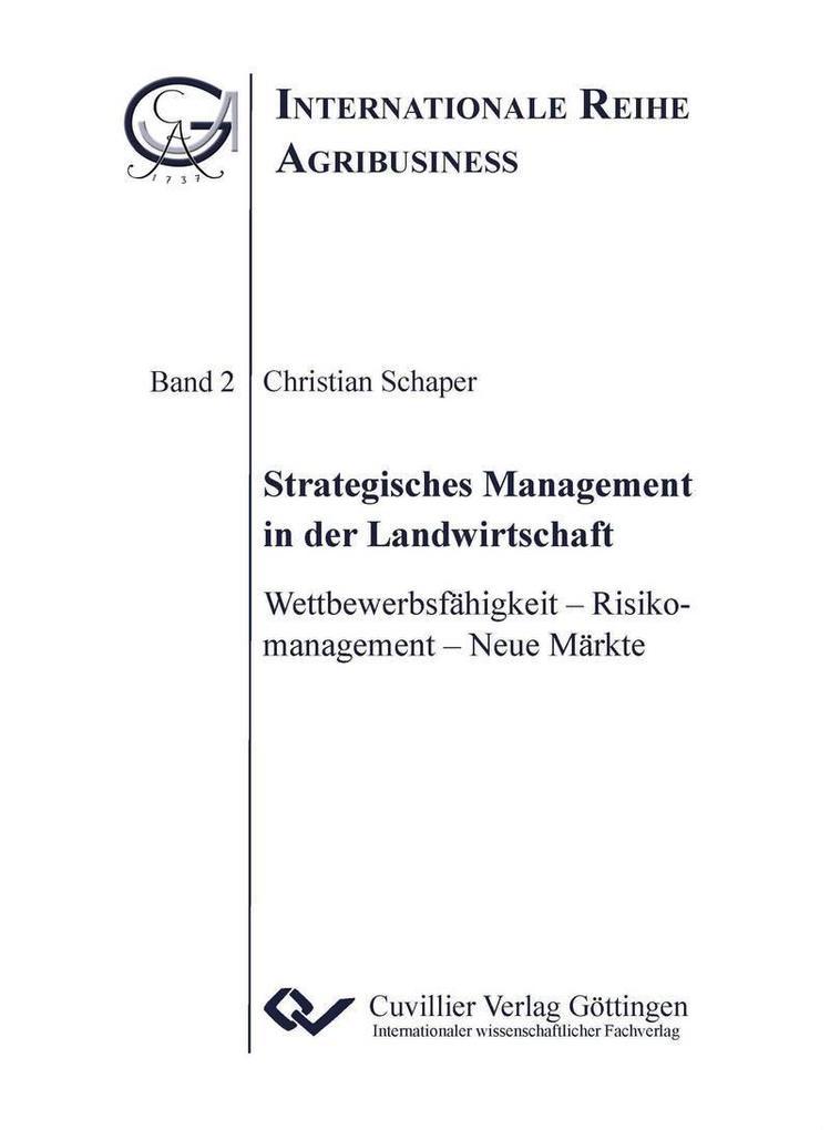Strategisches Management in der Landwirtschaft ...