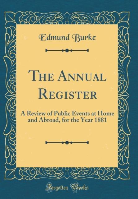 The Annual Register als Buch von Edmund Burke