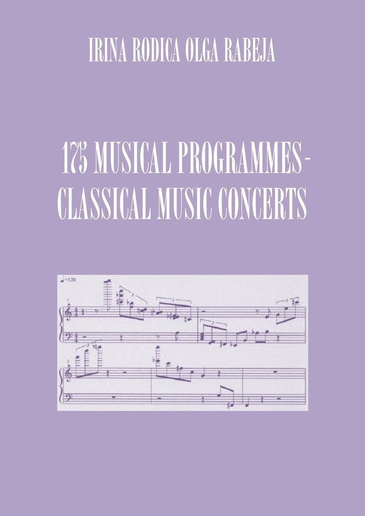175 MUSICAL PROGRAMMES als Taschenbuch von Irin...