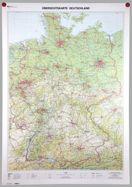 Übersichtskarte Deutschland 1:750000. Wandkarte...