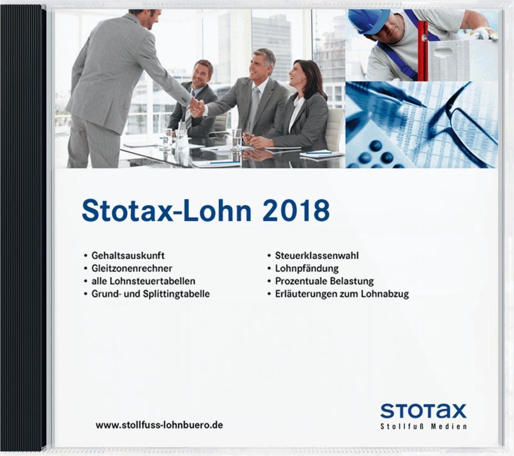 Stotax-Lohn 2018, CD-ROM