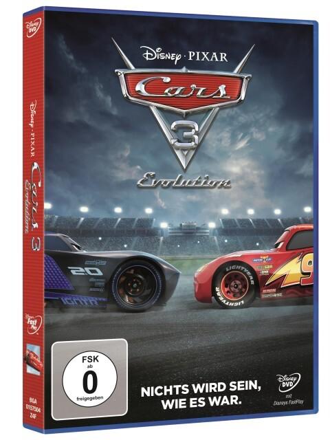Cars 3: Evolution als DVD