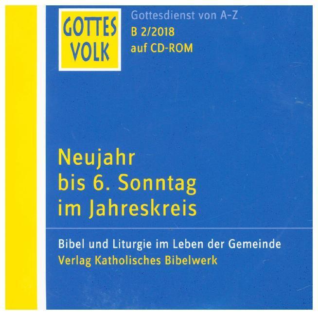 Neujahr bis 6. Sonntag im Jahreskreis, 1 CD-ROM