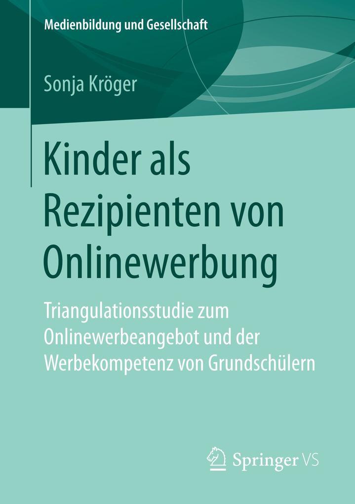 Kinder als Rezipienten von Onlinewerbung als Bu...