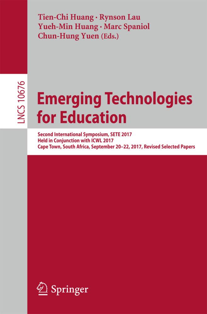 Emerging Technologies for Education als Buch von