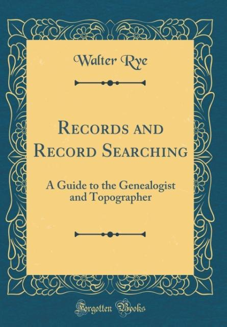 Records and Record Searching als Buch von Walte...