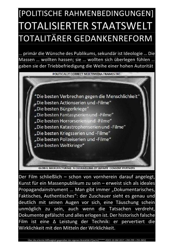 [POLITISCHE RAHMENBEDINGUNGEN] TOTALISIERTER STAATSWELT TOTALITÄRER GEDANKENREFORM als Buch (kartoniert)