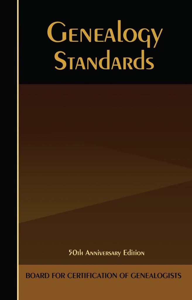 Genealogy Standards als eBook Download von
