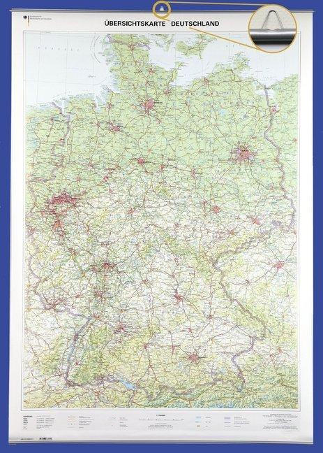 Übersichtskarte Deutschland 1 : 750 000. Wandka...