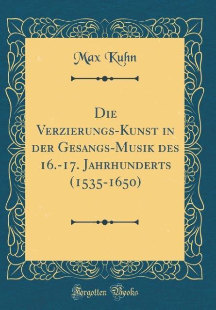 Die Verzierungs-Kunst in der Gesangs-Musik des ...