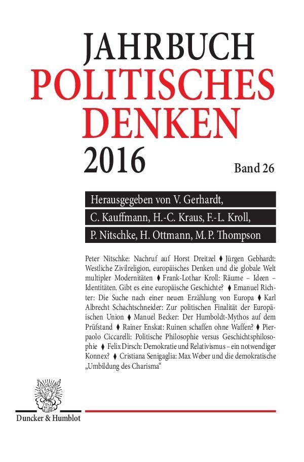 Politisches Denken. Jahrbuch 2016 als Buch von