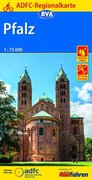 ADFC-Regionalkarte Pfalz mit Tagestouren-Vorschlägen, 1:75.000