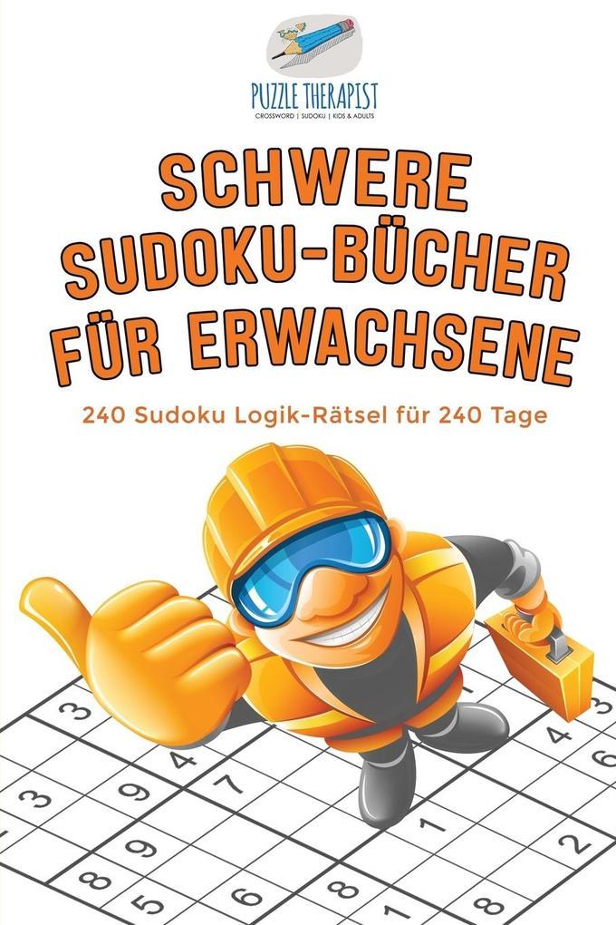 Schwere Sudoku-Bücher für Erwachsene 240 Sudoku...