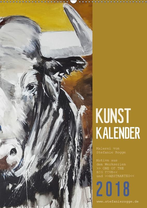 KUNSTKALENDER ONE OF THE BIG FIVE (Wandkalender...