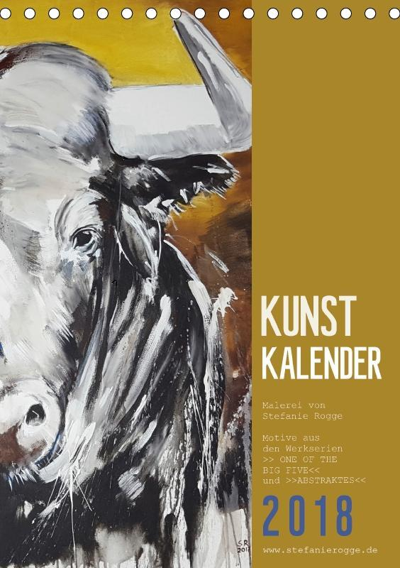 KUNSTKALENDER ONE OF THE BIG FIVE (Tischkalende...