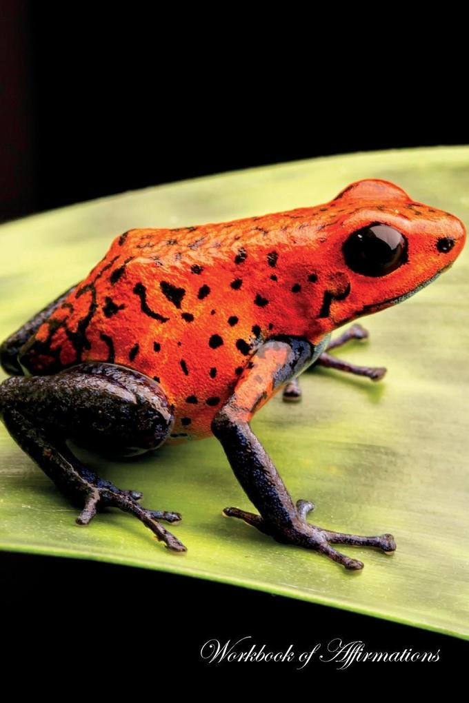 Red Poison Dart Frog Workbook of Affirmations R...