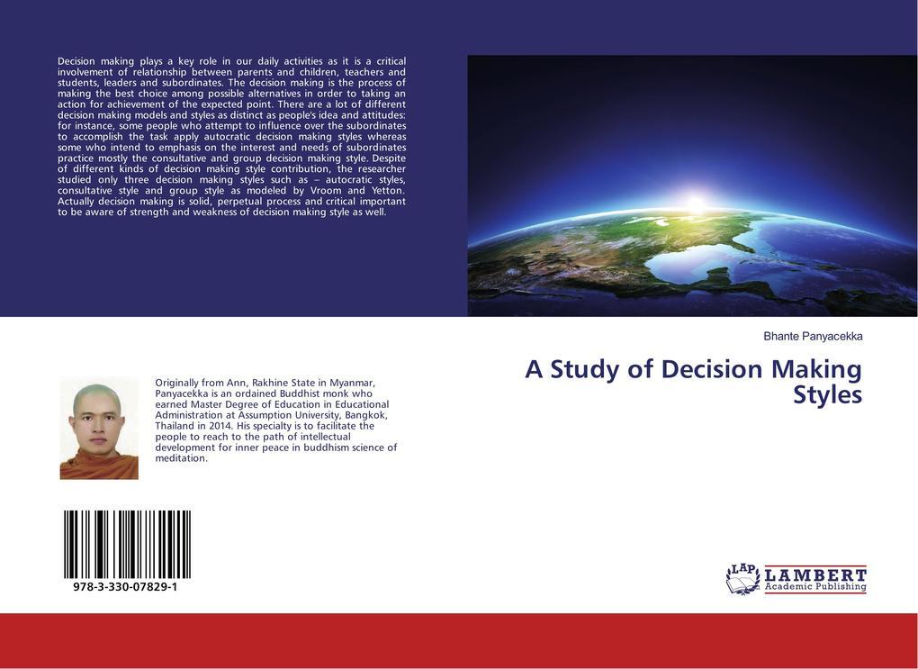 A Study of Decision Making Styles als Buch von ...