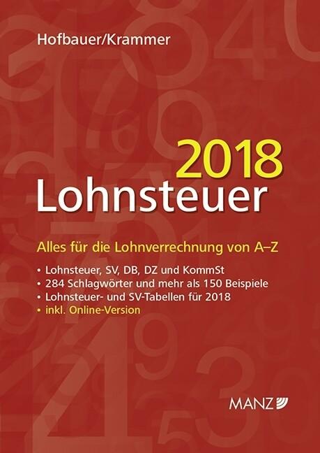 Lohnsteuer 2018 als Buch von Josef Hofbauer, Mi...