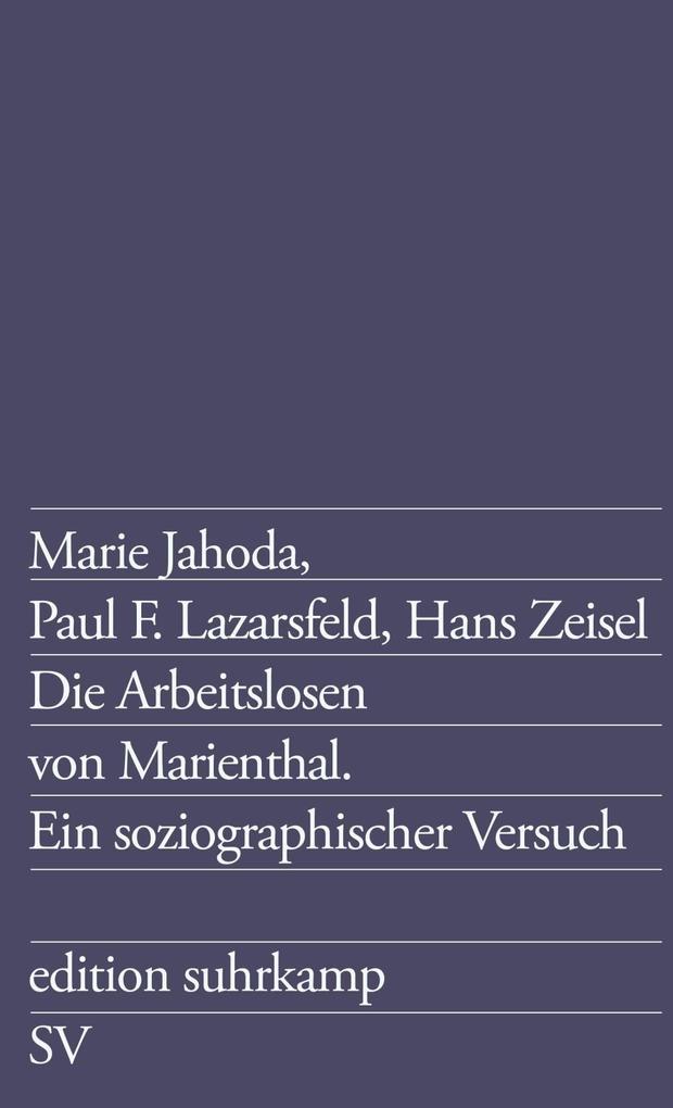 Die Arbeitslosen von Marienthal als eBook Downl...