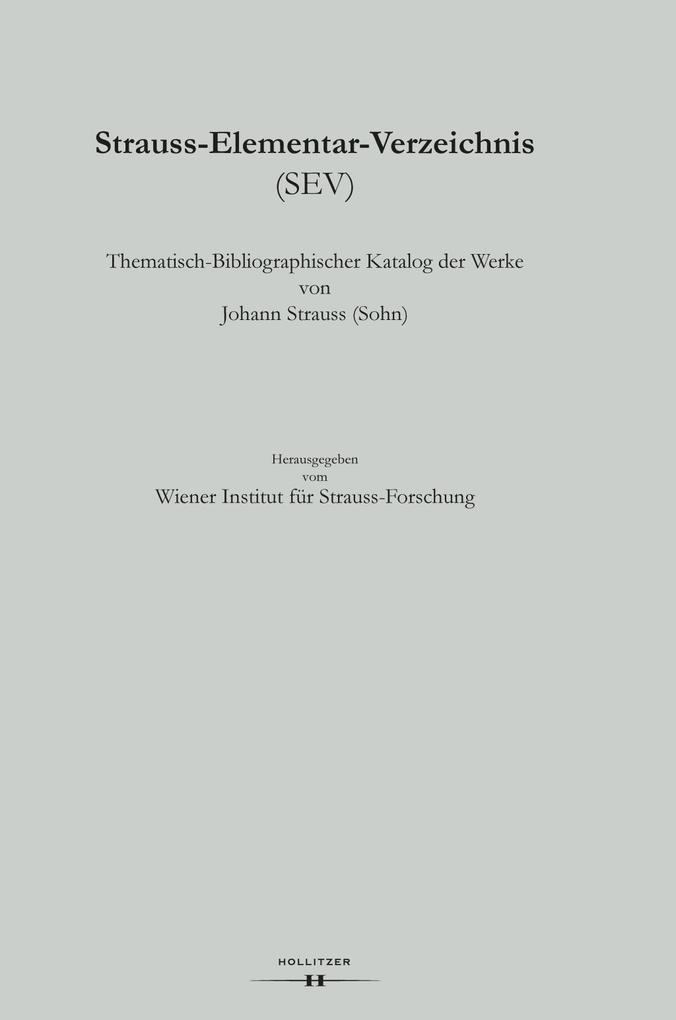 Strauss-Elementar-Verzeichnis 9 als Buch von