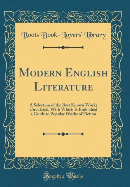 Modern English Literature als Buch von Boots Bo...
