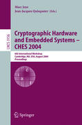 Cryptographic Hardware and Embedded Systems - CHES 2004