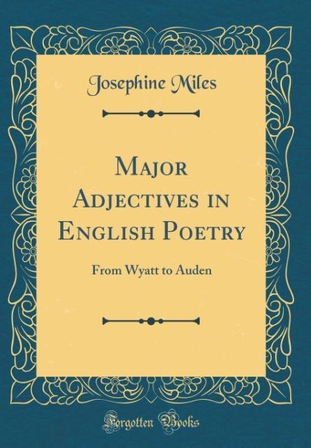 Major Adjectives in English Poetry als Buch von...