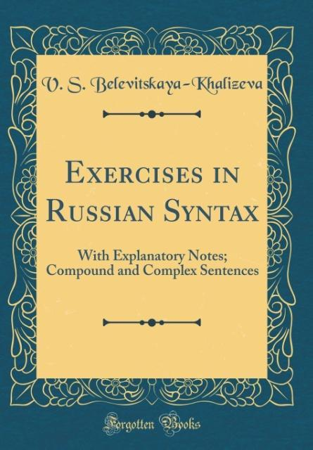 Exercises in Russian Syntax als Buch von V. S. ...
