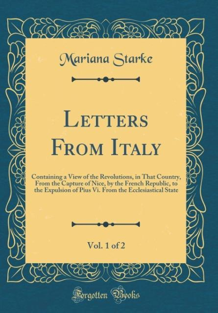 Letters From Italy, Vol. 1 of 2 als Buch von Ma...