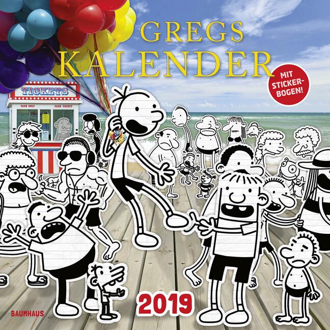 Gregs Kalender 2019 als Kalender