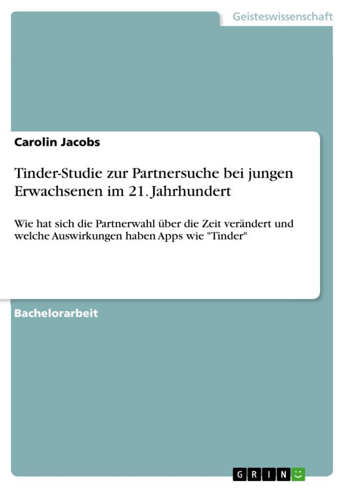 Tinder-Studie zur Partnersuche bei jungen Erwac...