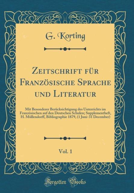 Zeitschrift für Französische Sprache und Litera...