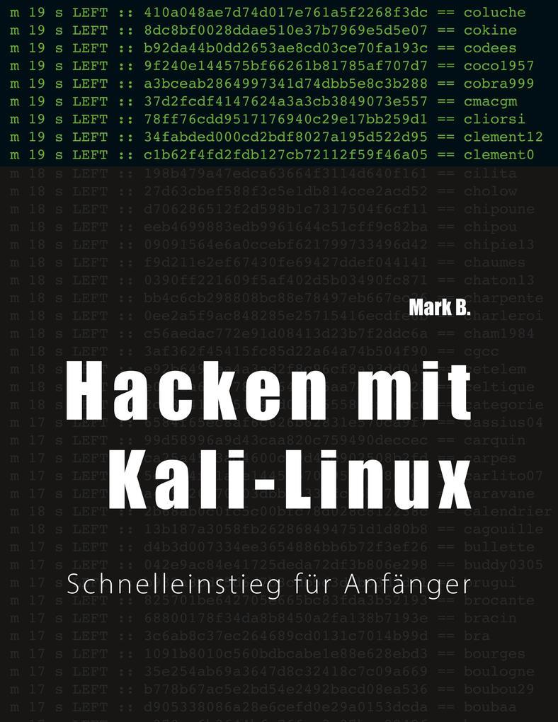 Hacken mit Kali-Linux als Buch