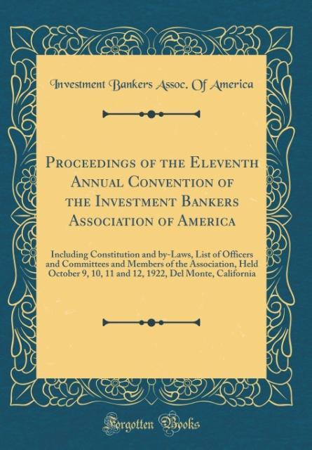 Proceedings of the Eleventh Annual Convention o...