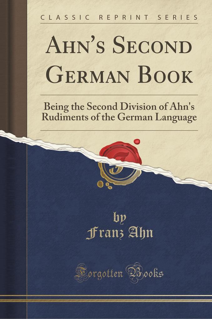 Ahn´s Second German Book als Taschenbuch von Fr...