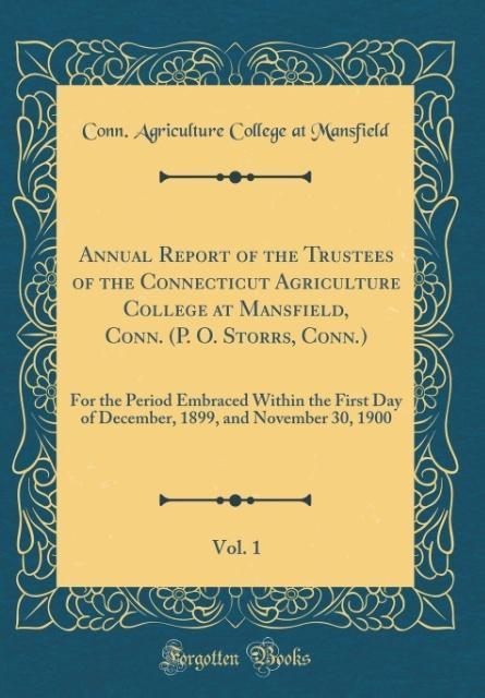 Annual Report of the Trustees of the Connecticu...
