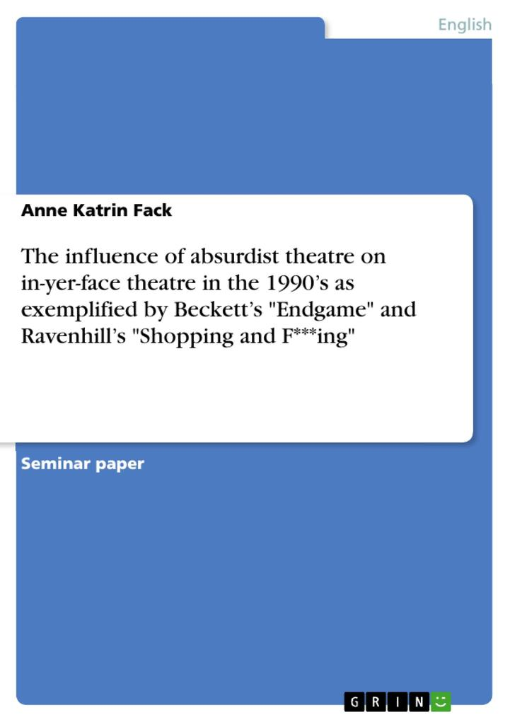 The influence of absurdist theatre on in-yer-fa...