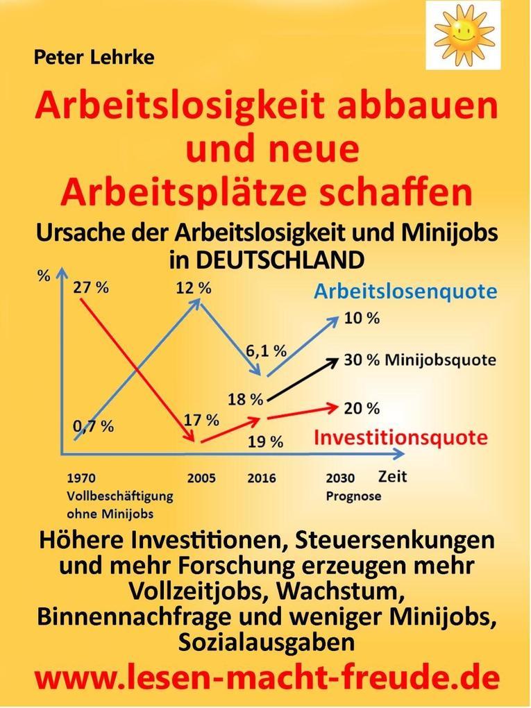 Arbeitslosigkeit abbauen und neue Arbeitsplätze...
