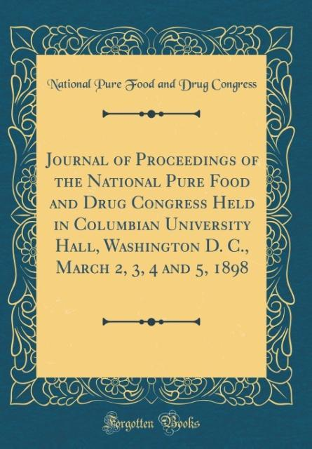 Journal of Proceedings of the National Pure Foo...